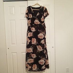Always Indigo XL Black Floral dress